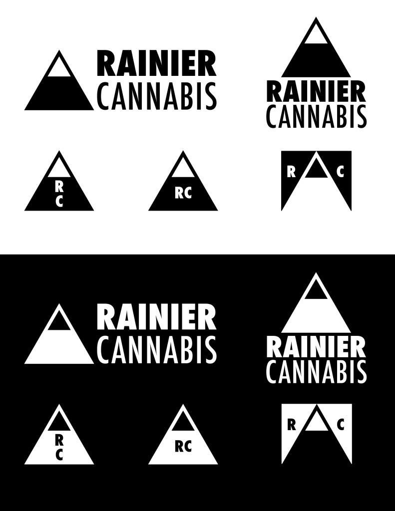 rainier cannabis logo set