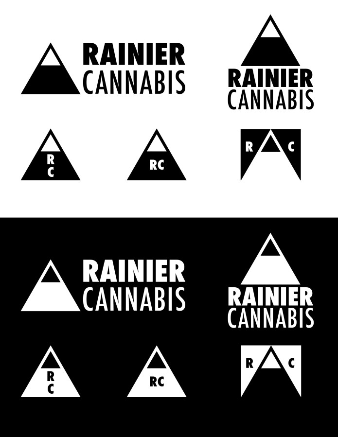 rainier cannabis logo set